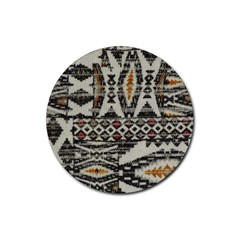 Fabric Textile Abstract Pattern Rubber Coaster (round)