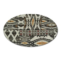 Fabric Textile Abstract Pattern Oval Magnet