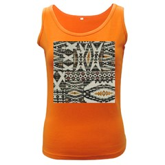 Fabric Textile Abstract Pattern Women s Dark Tank Top