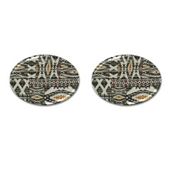 Fabric Textile Abstract Pattern Cufflinks (oval) by Nexatart
