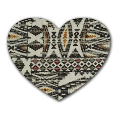 Fabric Textile Abstract Pattern Heart Mousepads