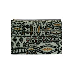 Fabric Textile Abstract Pattern Cosmetic Bag (medium)