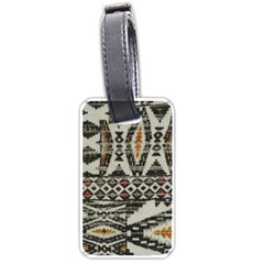 Fabric Textile Abstract Pattern Luggage Tags (two Sides)