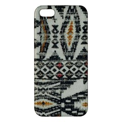 Fabric Textile Abstract Pattern Iphone 5s/ Se Premium Hardshell Case