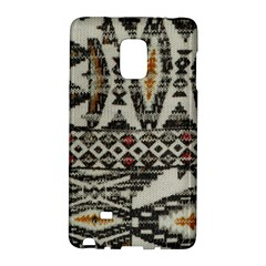 Fabric Textile Abstract Pattern Samsung Galaxy Note Edge Hardshell Case