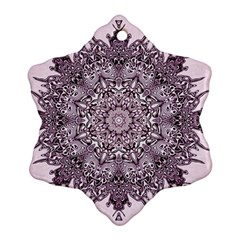 Mandala Pattern Fractal Ornament (snowflake)