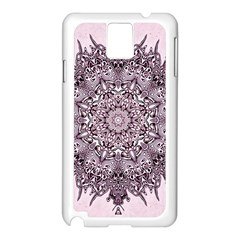 Mandala Pattern Fractal Samsung Galaxy Note 3 N9005 Case (white)