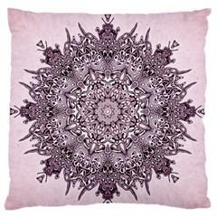 Mandala Pattern Fractal Large Flano Cushion Case (one Side)
