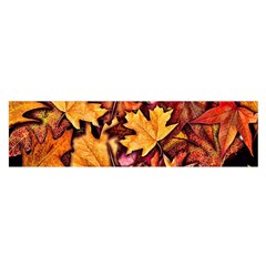 Fall Leaves Pattern Satin Scarf (oblong) by bloomingvinedesign