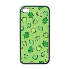Funny Greens And Salad Apple Iphone 4 Case (black)