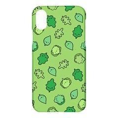 Funny Greens And Salad Apple Iphone X Hardshell Case by Mishacat