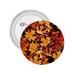Fall Leaves Pattern 2 25  Buttons