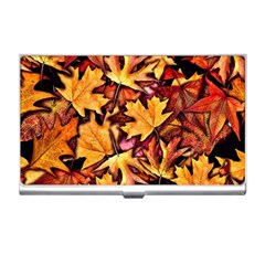 Fall Leaves Pattern Business Card Holders