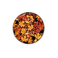Fall Leaves Pattern Hat Clip Ball Marker by bloomingvinedesign