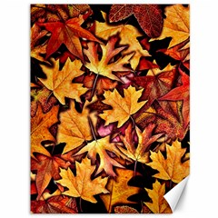 Fall Leaves Pattern Canvas 36  X 48   by bloomingvinedesign