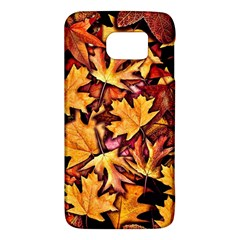 Fall Leaves Pattern Samsung Galaxy S6 Hardshell Case  by bloomingvinedesign