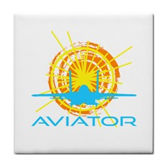 Aviator Tile Coasters by FunnyCow