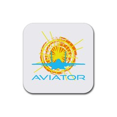 Aviator Rubber Square Coaster (4 Pack)  by FunnyCow