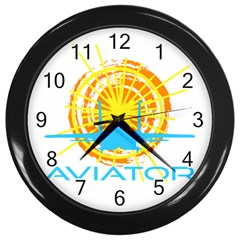 Aviator Wall Clocks (black) by FunnyCow