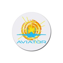 Aviator Rubber Coaster (round)  by FunnyCow