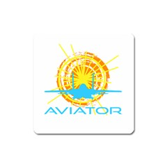 Aviator Square Magnet by FunnyCow