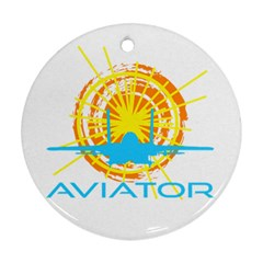 Aviator Round Ornament (two Sides) by FunnyCow