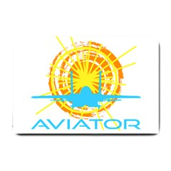 Aviator Small Doormat  by FunnyCow