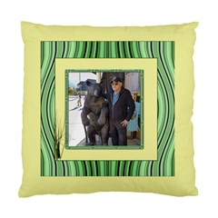 Lemon And Green Standard Cushion Case (two Sided) By Deborah Front