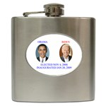 obama biden 2008 Hip Flask (6 oz)