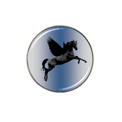 Black Pegasus Hat Clip Ball Marker