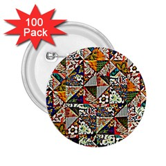 Patchwork Pattern 2 25  Buttons (100 Pack)