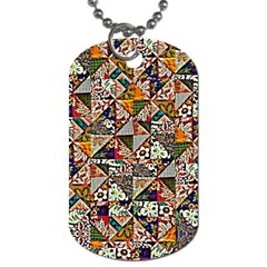 Patchwork Pattern Dog Tag (one Side)
