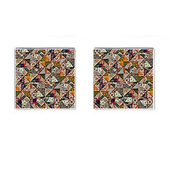 Patchwork Pattern Cufflinks (square) by bywhacky