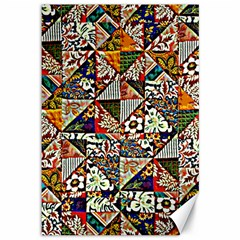 Patchwork Pattern Canvas 12  X 18