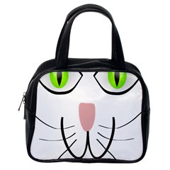Cat Green Eyes Happy Animal Pet Classic Handbags (one Side)