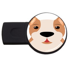 Dog Animal Boxer Family House Pet Usb Flash Drive Round (4 Gb) by Sapixe