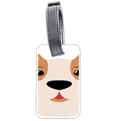 Dog Animal Boxer Family House Pet Luggage Tags (one Side)  by Sapixe