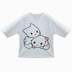 Kitty Cuddling Cat Kitten Feline Infant/toddler T Shirts