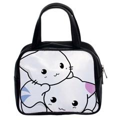 Kitty Cuddling Cat Kitten Feline Classic Handbags (2 Sides)