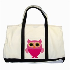 Sowa Owls Bird Wild Birds Pen Two Tone Tote Bag