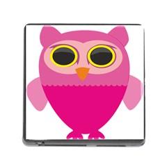 Sowa Owls Bird Wild Birds Pen Memory Card Reader (square)
