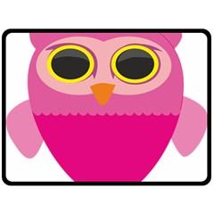 Sowa Owls Bird Wild Birds Pen Fleece Blanket (large)