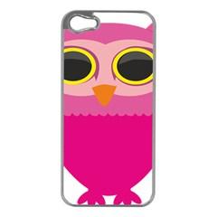 Sowa Owls Bird Wild Birds Pen Apple Iphone 5 Case (silver)