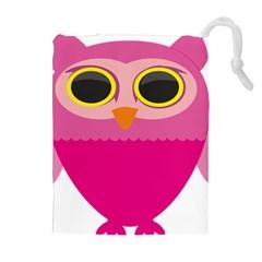 Sowa Owls Bird Wild Birds Pen Drawstring Pouches (extra Large)