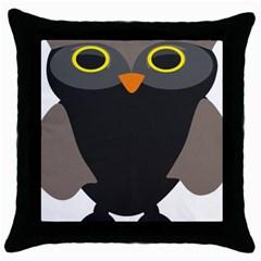 Sowa Owls Bird Wild Birds Pen Throw Pillow Case (black)