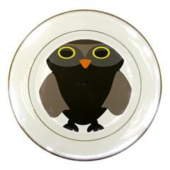Sowa Owls Bird Wild Birds Pen Porcelain Plates by Sapixe