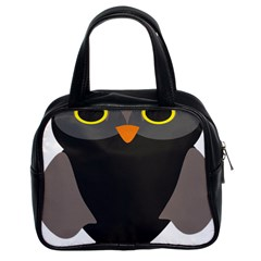 Sowa Owls Bird Wild Birds Pen Classic Handbags (2 Sides)