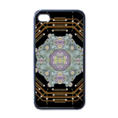 Butterflies And Flowers A In Romantic Universe Apple Iphone 4 Case (black)