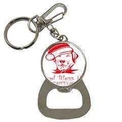 Dog Santa Hat Winter Christmas Bottle Opener Key Chains