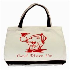 Dog Santa Hat Winter Christmas Basic Tote Bag